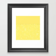 XVI - Yellow Framed Art Print