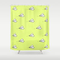 planes Shower Curtains featuring Planes by Darlene Boza