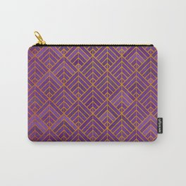 Violet and gold Carry-All Pouch