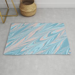 Abstract Marble Texture Rug