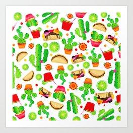 Fiesta Tacos Art Print