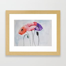 Poppies no 3 Framed Art Print