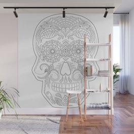 Color Me Day of the Dead Skull Wall Mural