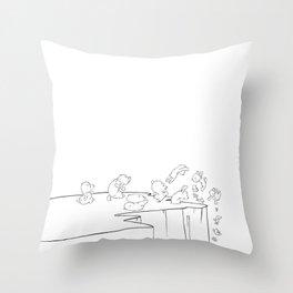 Lemming Marathon Throw Pillow