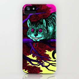 The glowing Cheshire Cat iPhone Case