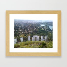 From Behind the Hollywood Sign Framed Art Print