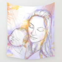 madonna Wall Tapestries featuring Madonna - together day by Crayonbug
