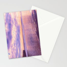 Solace by Sunset Cayucos pier and beach Stationery Cards