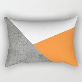 Concrete Tangerine White Rectangular Pillow