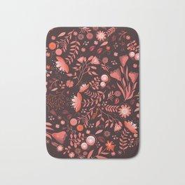 Coral flowers Bath Mat