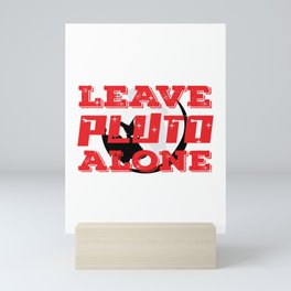 """This """"Leave Pluto Alone"""" tee design will show both humorous and astronomical side of you Mini Art Print"""