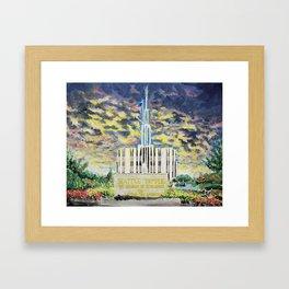 Seattle Washington LDS Temple Framed Art Print