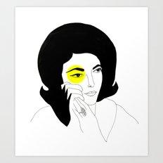 The Right Eye of Maria Callas Art Print