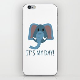 Boy Birthday Elephant Nature Wildlife Kids Children Party Celebration gift idea iPhone Skin