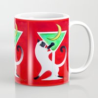 martini Mugs featuring Moon Martini by Gem S Visionary