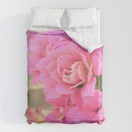 peach colored flower Duvet Cover