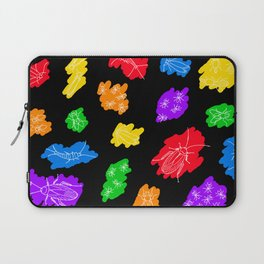 Uninvited Guests - White Outline Laptop Sleeve
