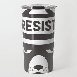 Bear Hat is Resist Travel Mug