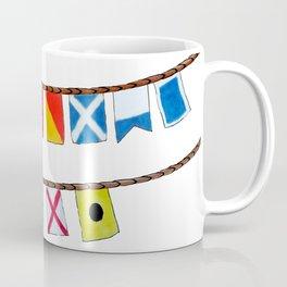 St Thomas Nautical Flags Coffee Mug