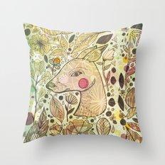 Deer Spirit Throw Pillow