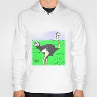 ostrich Hoodies featuring Ostrich by wingnang