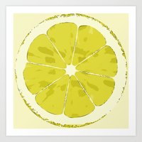 lemon Art Prints featuring Lemon by Avigur