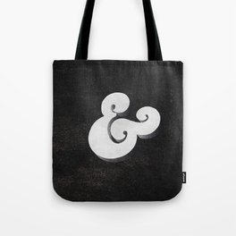 Black Ampersand Tote Bag