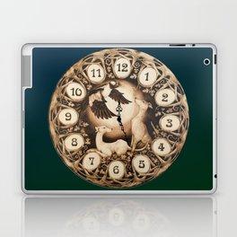 Greyhound Art Nouveau Clock Laptop & iPad Skin