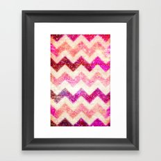 Glitter Pink Chevron - for iphone Framed Art Print
