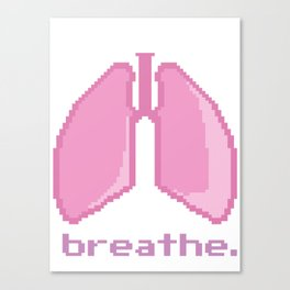 Breathe. Pixelated Lungs Canvas Print