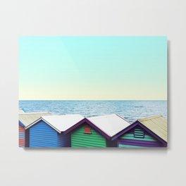 Beach Boxes Metal Print