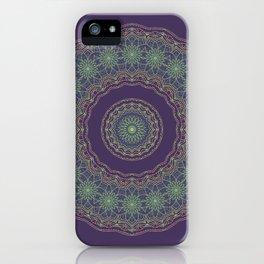 Lotus Mandala in Dark Purple iPhone Case