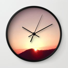 Aloha. Be Open to What Comes Wall Clock