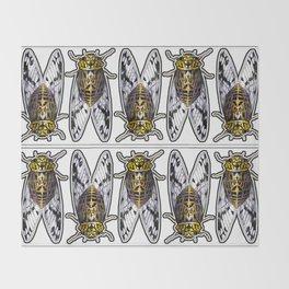 Amber Cicadas Throw Blanket