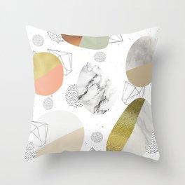 Circular forms - textures Throw Pillow