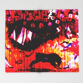 Valencia Bull Fight          by Kay Lipton Throw Blanket