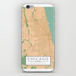 Chicago Map - Color iPhone Skin