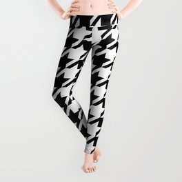 Houndstooth Large Classic Pattern Leggings