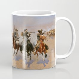 A Dash for the Timber - Frederic Remington Coffee Mug