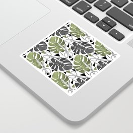 Elegant, art, scissors, monstera Sticker
