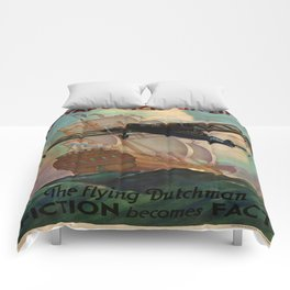Vintage poster - Royal Dutch Airlines Comforters