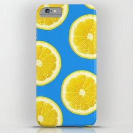 lemon pattern fruit iPhone Case