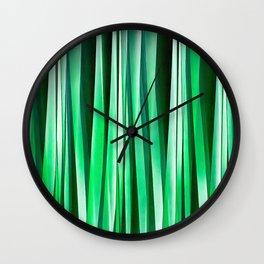 Aquamarine Ocean Stripy Pattern Wall Clock