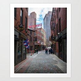 Bostons North End Life Art Print
