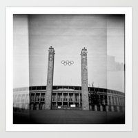 Olympiastadion Art Print
