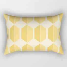 Hexagonal Pattern - Golden Spell Rectangular Pillow