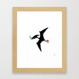 PTERODACTYL OF PEACE Framed Art Print