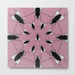 I Spy Flies (Pink) Metal Print
