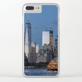 NYC and Staten Island Ferry Clear iPhone Case