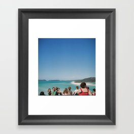 whitehaven beach Framed Art Print